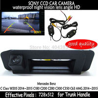 For Mercedes Benz CLA Class C117 2015 Car Rear View Camera waterproof Reverse Camera wireless sony HD CCD RCA NTST Trunk handle
