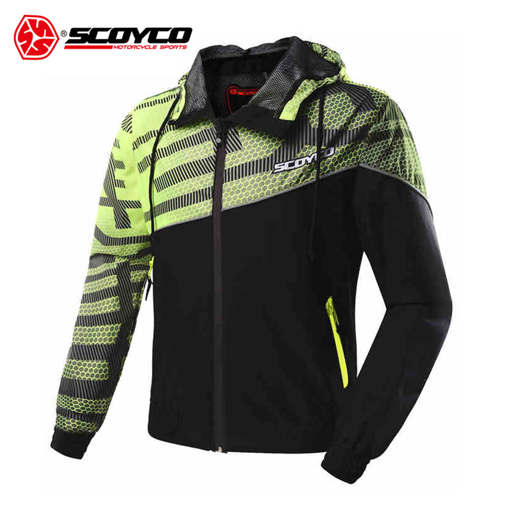 SCOYCO Motorcycle Jacket Moto Motorbike Waterproof Jacket Clothing Spring Summer Breathable Jacket Headed 2017 new camel outdoor spring summer skin clothing girls waterproof breathable windbreaker sun protective jacket a7s1u7178