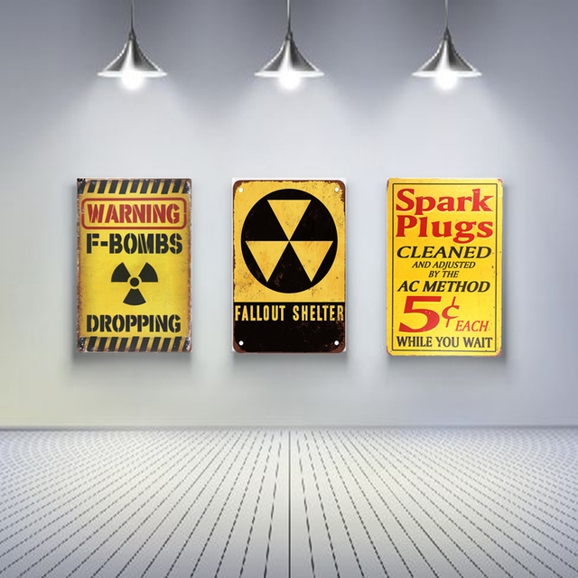 spark plugs vintage metal sign posters home decoration accessories