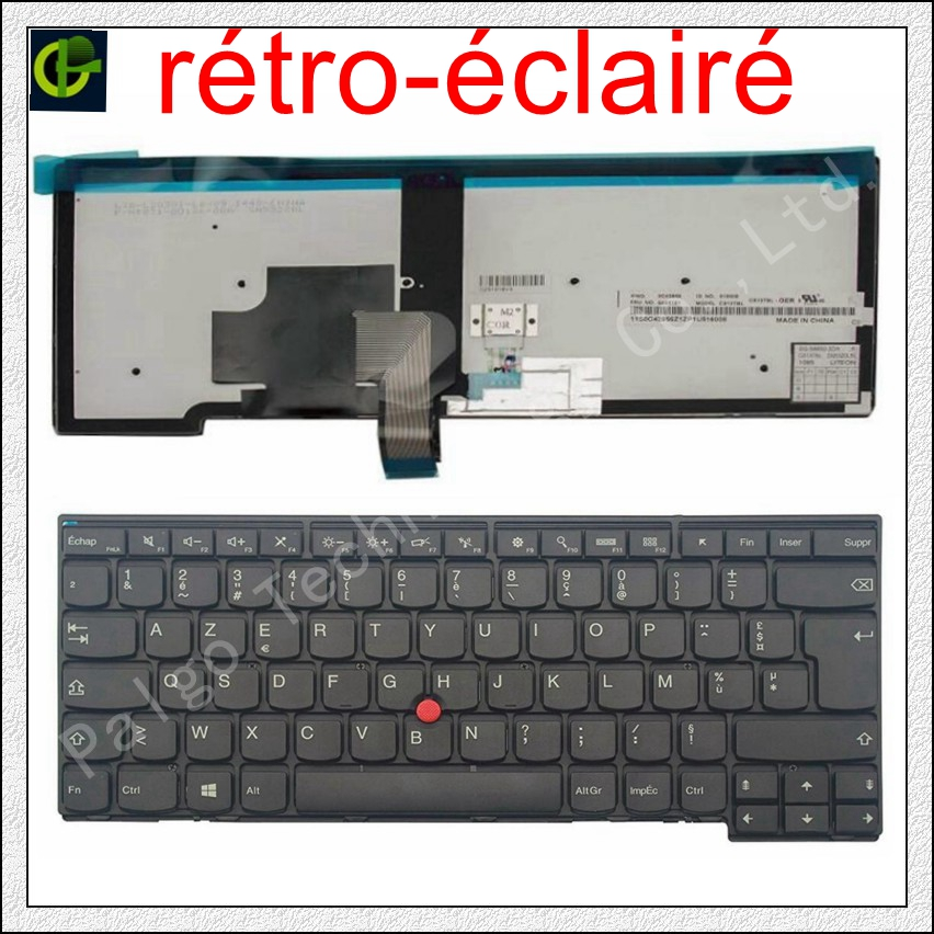 French Backlit Azerty Keyboard for  lenovo ThinkPad 0C02226 04Y0835 PK130SB1A18 MP-12M16F0-G62W  FRFrench Backlit Azerty Keyboard for  lenovo ThinkPad 0C02226 04Y0835 PK130SB1A18 MP-12M16F0-G62W  FR