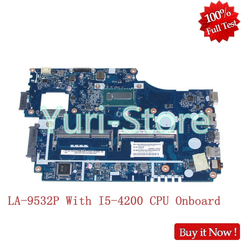 NOKOTION V5WE2 LA-9532P For Acer aspire E1-532 E1-572 E1-572G Laptop motherboard NBMFM11007 NB.MFM11.007 With I5-4200 CPUOnboard цены онлайн