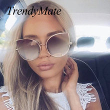 Hot 2017 Fashion Sunglass Luxury Ladies Butterfly Designer Brand Sunglasses Women Alloy Sun Glasses Oculos De Sol Feminino 058