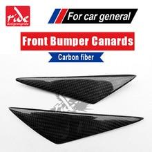 For Benz GLA-X156 Front Bumper Lip Splitter Air Knife Body Kit GLA180 GLA200 GLA250 Universal 4Pcs Carbon