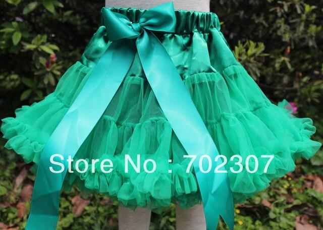 Новый дизайн девочка Pettiskirt новорожденных девочек зеленый юбки 5 шт./лот CE26