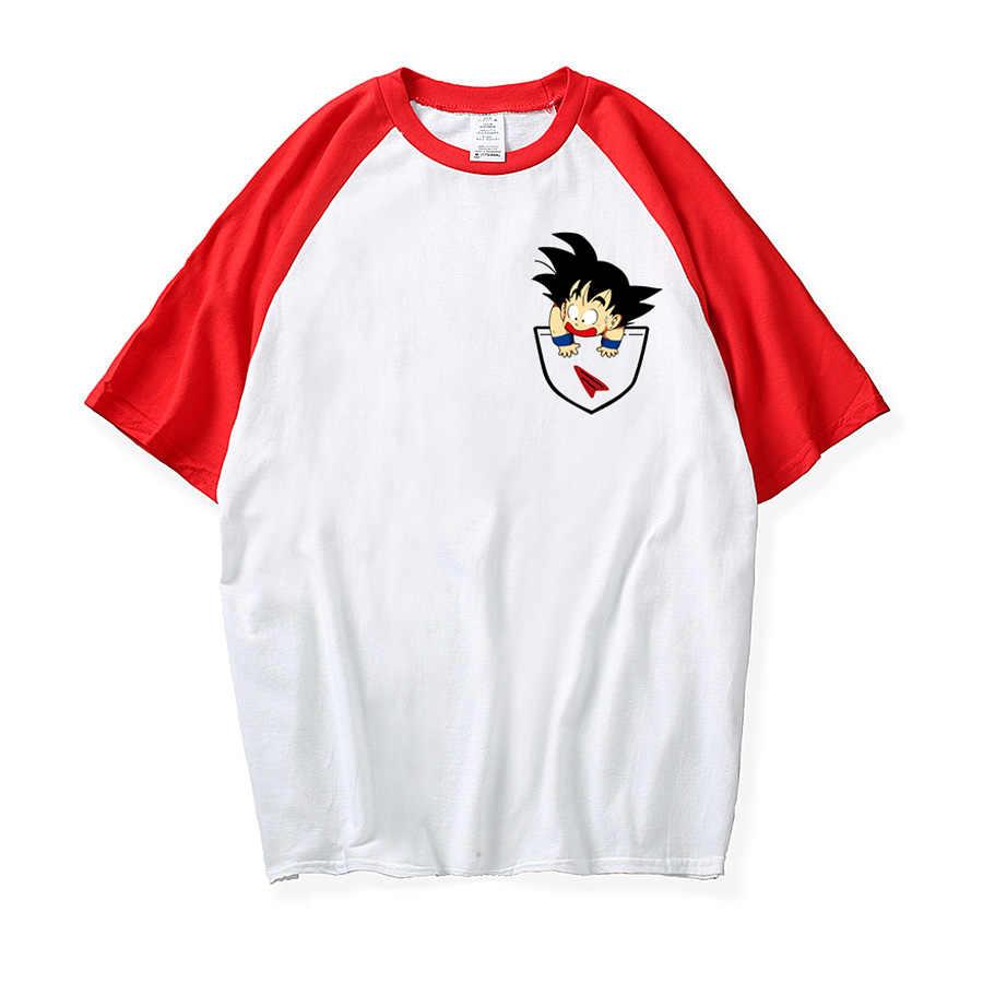 Футболка с драконом и шариком для мужчин, летняя футболка с драконом Z super son goku Slim Fit, футболки игровой тематики vegeta, футболка Homme, свободная Футболка реглан
