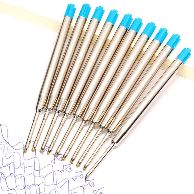 10pcs 0.5mm Roller Ballpoint Pen Refill Medium Nib Blue Black Color Ink Ball Pens Refill for School Office Writing Stationery 2