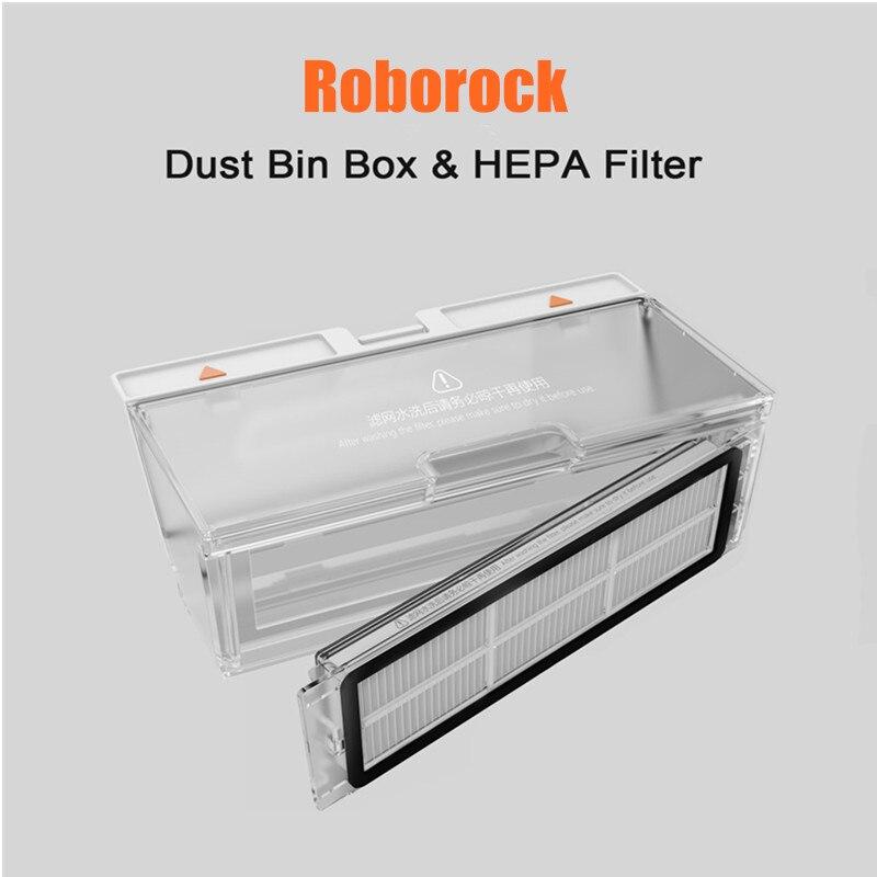Pièces de boîte à poussière Roborock S50 d'origine Xiao mi mi Robot aspirateur 2 génération Roborock S50 pièces de boîte à poussière pour Roborock S55/S51