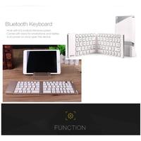 portable aluminum B.O.W  Light and portable Folded Bluetooth Keyboard, Aluminum Metal Wireless Mini Keyboard Case for Tablet/iPad /iPhone 8 7 (3)