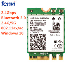 2400Mbps Dual Band 802.11ax  Intel Wifi 6 AX200NGW M.2 Wireless Wlan Wi-Fi Card Adapter For AX200 With BT 5.0 MU-MIMO