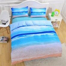 CAMMITEVER deniz nevresim takımı kraliçe nevresim yatak takımı güzel deniz yatak örtüsü 3 adet AU tek kişilik çift kişilik King kraliçe