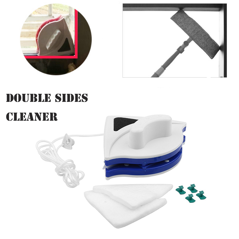 Double-Sides Magnetic Window Wiper Glass Cleaner Home Wizard Surface Cleaning Brush Tools Window Washer With Squeegees Cleaner