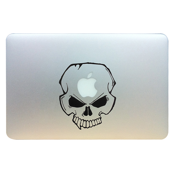 Character skull vinyl decal sticker skin for apple macbook pro unibody mac air 13 pro