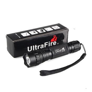 UltraFire WF-501B CREE XM-L2 LED 18650 flashlight hunting outdoor lighting tactical switch L2 flash ultrafire wf 502d 3w flashlight with clip 2x18650 2x17670
