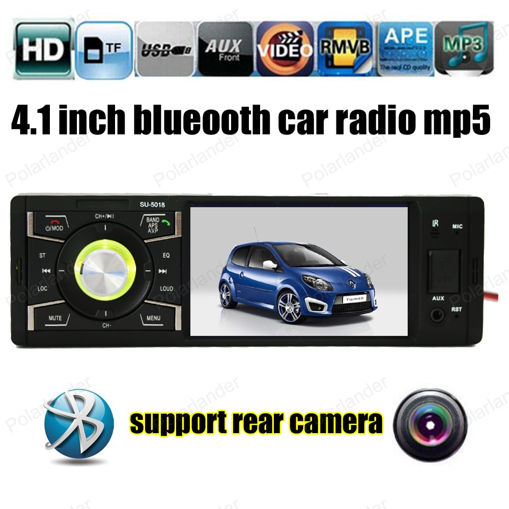 4 Inch Car Radio Player support Rearview Camera AUX FM USB Auto Video Player Bluetooth Remote Control Stereo Universal 1 Din car usb mp3 player integrated bluetooth hands free mp3 decoder board module ztv m01bt remote control usb fm aux radio for car