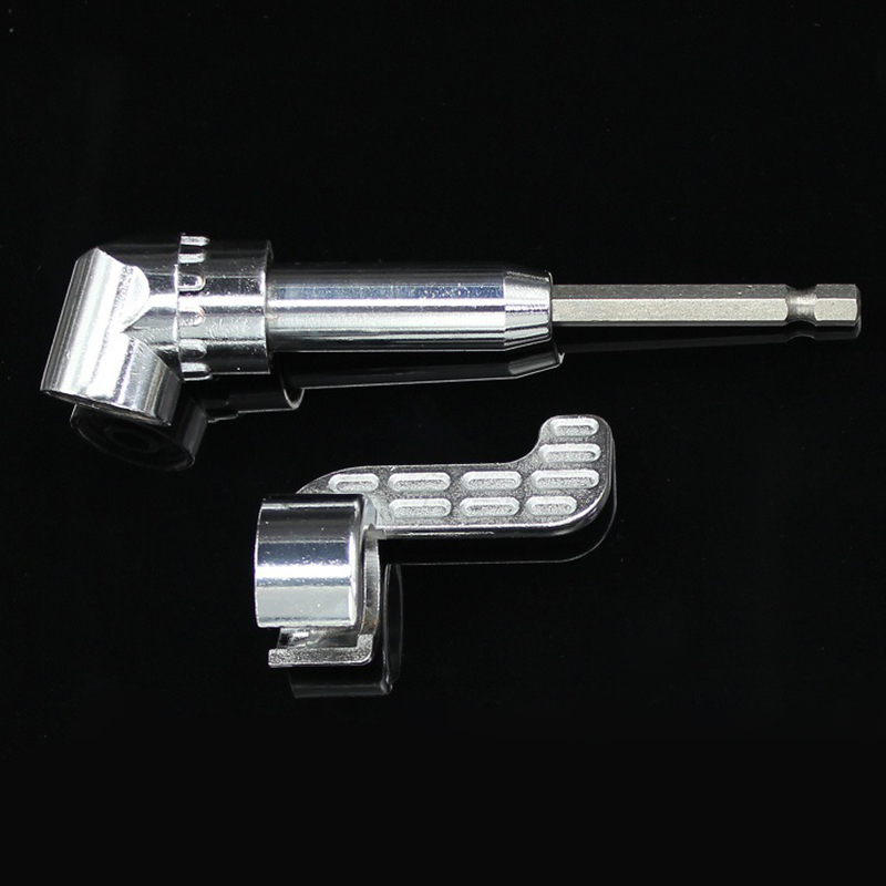105 Degree Right Angle Drill Extension Shank Quick Change Driver Drilling Screwdriver Magnetic 1/4
