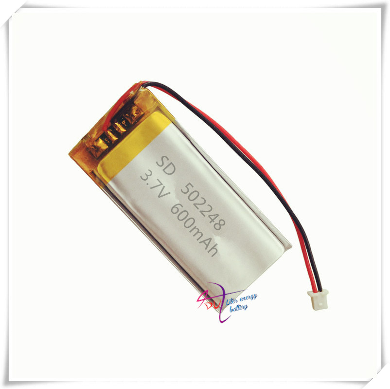 XHR-2P 2.54 3.7V 600mAh 502248 482249 polymer lithium battery Bluetooth wireless speaker learning machine