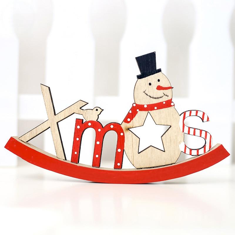 Kinder Geschenke Weihnachten 2019.2019 Weihnachten Holz Anhänger Brief Tür Hängen Anhänger Neue Jahr