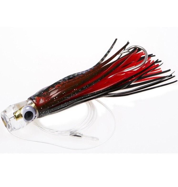 Appât de leurre en forme de pieuvre pour le bateau de pêche de l'océan crochet de barbe définit des outils de pêche puissants 45g 16 cm