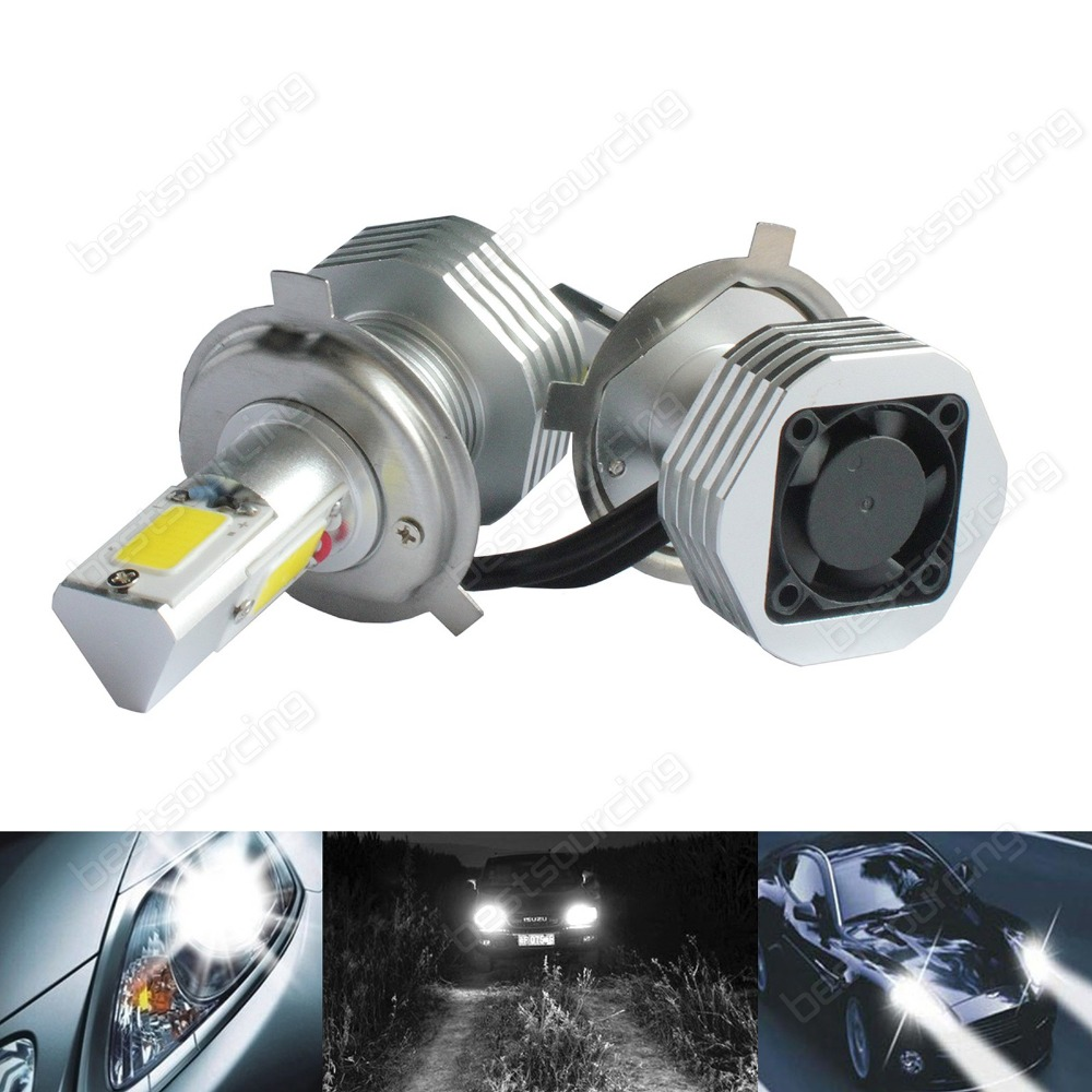 2x H4 472 Bulb High Power COB LED 7600lm 60W HeadLight Fog Light DRL Error Free(CA225) free shipping lamtop compatible projector lamp vlt xd560lp for xd560u