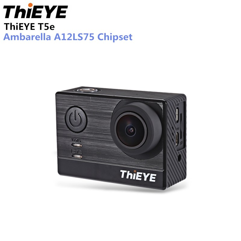 ThiEYE T5e Action Camera WiFi 4K 30fps 12MP 2 inch TFT LCD Screen 1080P Sports Ambarella A12LS75 Chipset IMX117 Sensor HD
