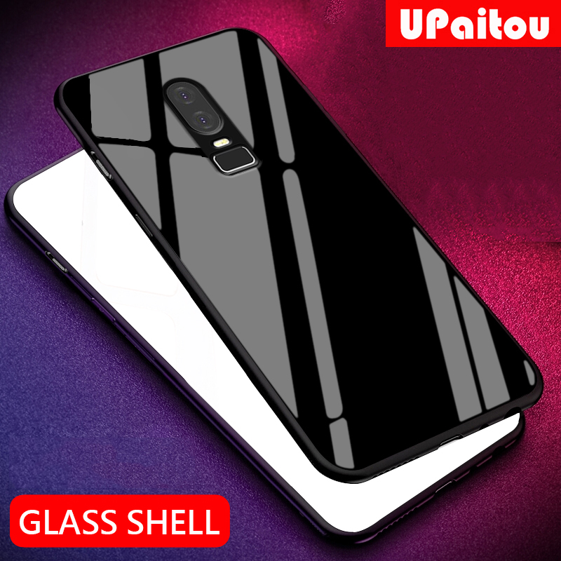 UPaitou Luxury Tempered Glass <font><b>Case</b></font> for <font><b>Oneplus</b></font> 7 Pro 6 <font><b>6T</b></font> 5T <font><b>Case</b></font> TPU <font><b>Bumper</b></font> Shockproof <font><b>Case</b></font> for One Plus 6 1+ 6 5T <font><b>6T</b></font> cover image
