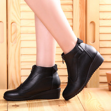 Ankle Boots Shoes Woman Fashion woman boots Autumn Winter Boots leather shoes zip