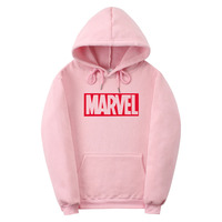 2017 New Brand Marvel Men Women Hoodies Sweatshirt Men Pink Skateboards Male Cotton Hoodie Sweat Clothing