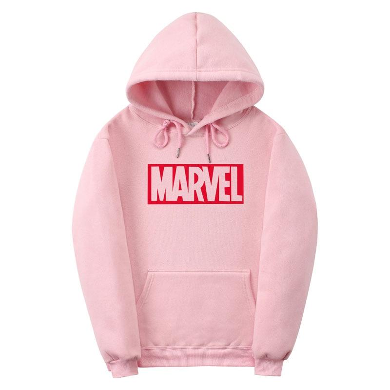2017 New Brand Marvel men Women Hoodies Sweatshirt Men Pink Skateboards Male Cotton Hoodie Sweat clothing