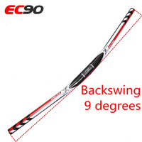 New Ec90 Mountain Bicycle Full Carbon Fiber Xc Dh Handlebar Carbon Mtb Bike Handle 690 720 740mm 31.8mm Angle 9 Degrees Red