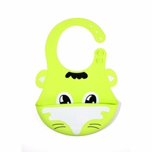 baby bibs silicone  feeding stuff waterproof burp cloths girls boys kids Tiger Dog