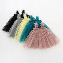 Детские платья без рукавов; летняя одежда для девочек; платье принцессы; платье для первого дня рождения для девочек; милая одежда для маленьких девочек