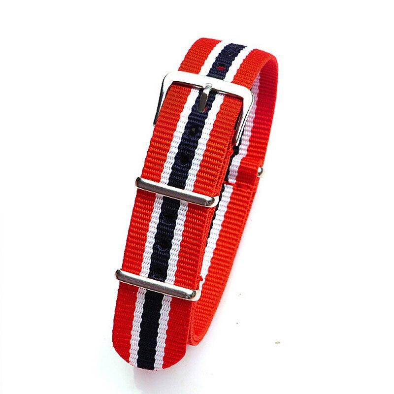 Retail 18 20 22mm red white dark blue Sport nato fabric watch band straps accessories Bands nylon watchband steel Buckle belt stinger banzai 18 2016 х72830 к blue red