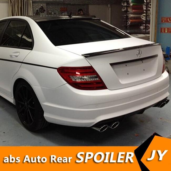สำหรับ Mercedes Benz W204 สปอยเลอร์ 2008-2014 C - class C180 C200L C63 สปอยเลอร์คุณภาพสูง ABS ด้านหลังสปอยเลอร์