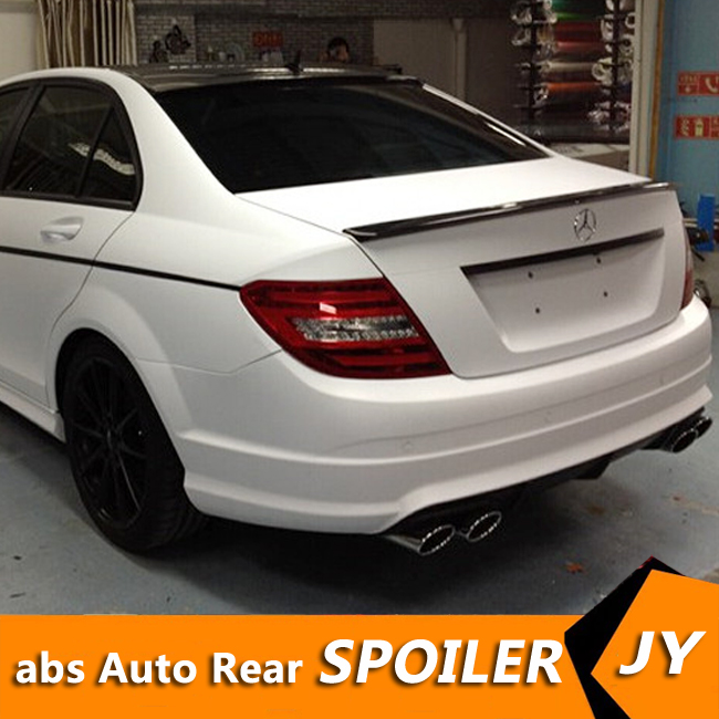 Para Mercedes Benz W204 Spoiler 2008-2014 C-clase C180 C200L C63 Spoiler de la alta calidad ABS trasera de coche ala de Spoiler