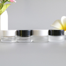 5G Empty Glass Clear Face Cream Containers Sample Travel Facial Black Mask Shampoo Liquid Lotion Cosmetic Jars Pot 12pcs/lot free shipping 50pcs 5g empty pp cosmetic hose tube cream lotion shampoo containers emulsion handcream facial cleanser soft tubes