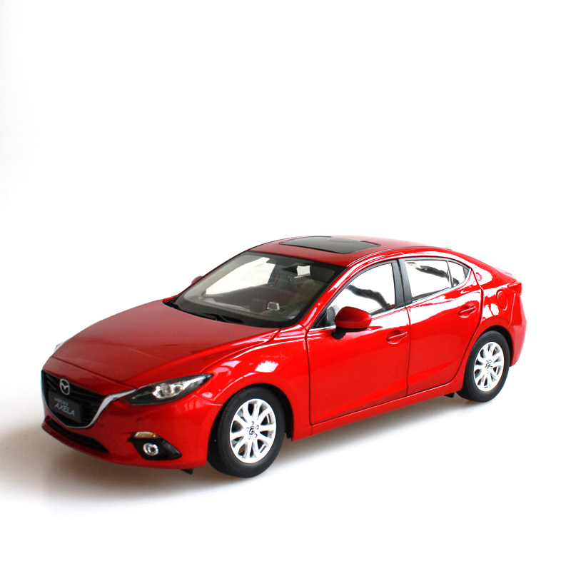 1:18 Diecast Model for Mazda 3 Axela 2014 Red Sedan Alloy Toy Car Collection Gifts MX5 MX 5 1 18 ford focus sedan diecast car model for collection gifts hobby silver