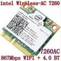 Nova intel dual band sem fios-ac 7260 ac 7260 802.11ac 7260hmw ac7260 MINI PCI-E Card 2.4G/5G Dual Band 2x2 WiFi + Bluetooth 4.0