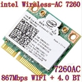 Nueva intel banda dual inalámbrico-ac 7260 ac7260 7260hmw ac 7260 802.11ac MINI PCI-E Card 2.4G/5G Dual Band 2x2 WiFi + Bluetooth 4.0