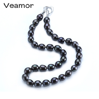 10mm Big Black Pearl Necklace For Women 45cm/50cm High Quality Choker Necklace Promotion Products Wholesale Price