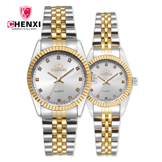 CHENXI Brand Luxury Stainless Steel Analog Display Date Men Quartz Male Business