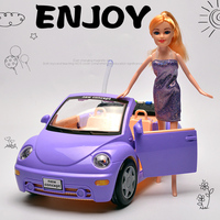 1 Pcs Volkswagen Beetle Diecasts Toy Vehicles Light Sound Music Car Model With Doll Children Kids