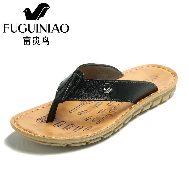Fuguiniao New New Fuguiniao Arrival Summer Uomo Flip Flops High Quality Beach Sandals Non-Slip1 8c995f