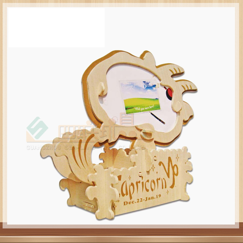 3D Деревянный Созвездие пазл Козерог пазл игрушка IQ Развивающие деревянные игрушки DIY ручной работы Пазлы Детский подарок