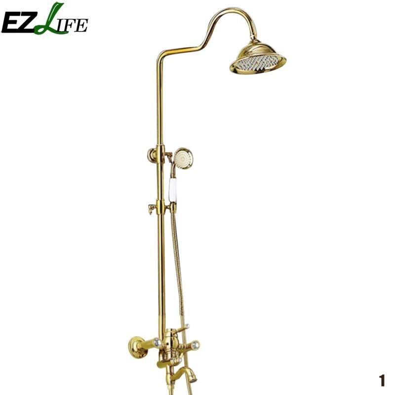 Ezlife высокое качество Ванная комната посвященный набор для душа diamond третий Шестерни душ для Ванная комната yzh0678