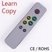 7 أزرار كبيرة تعلم التحكم عن بعد ، نسخة مكررة رمز الأشعة تحت الحمراء من وحدة تحكم الأصلي عن بعد من التلفزيون VCR STB DVD DVB ، صندوق التلفزيون