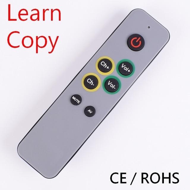 7 больших кнопок обучения пульт дистанционного управления, дубликат Копировать ИК код от оригинального управления ler remoto TV VCR STB DVD DVB, TV BOX