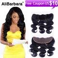 Malaysian body wave lace closure 13X4 Alibarbara hair unprocessed Malaysian virgin hair body wave lace frontal closure free part