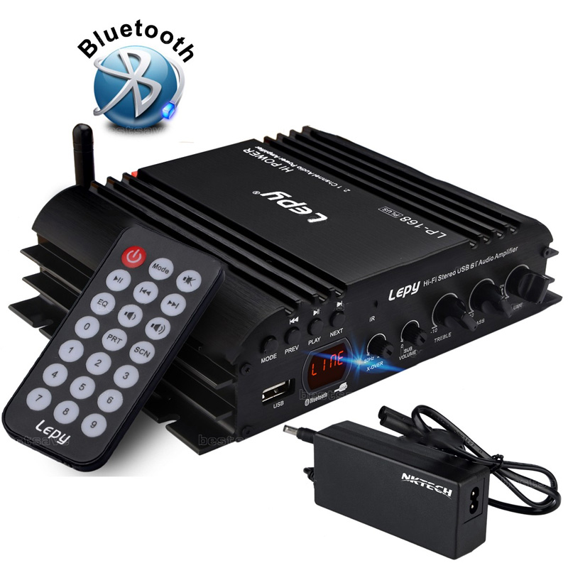 Vehemo USB FM Audio Car Stereo Amplifier Radio MP3 Speaker Hi Fi 4 Channel Power Player With Remote Control for Auto Motorcycle