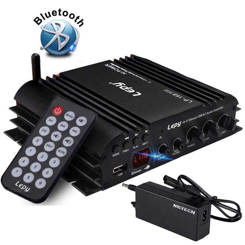 Vehemo USB FM Audio voiture amplificateur stéréo Radio MP3 haut-parleur Hi-Fi 4 canaux lecteur d'alimentation avec télécommande pour Auto moto