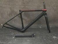 2018 carbon frame road bike frame fork clamp seatpost Carbon Road bicycle Frame 880g bike frame